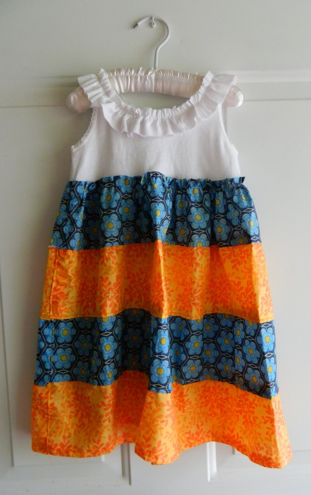 Tutorial For This Tank Top Dress Sewing Kids Clothes