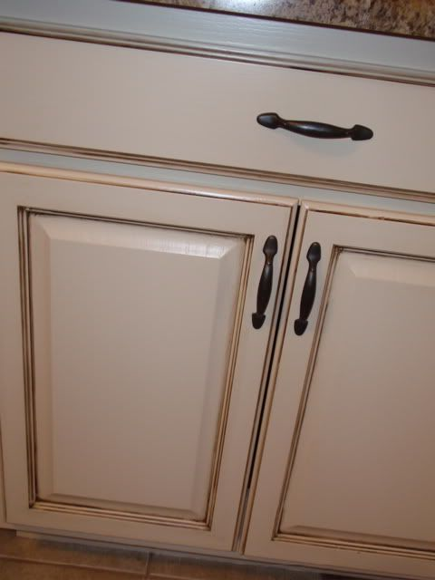 Began as old Pickled pink Oak //www.ggodecorative.com - Antiquing Oak - Antiquing Oak Cabinets Antique Furniture