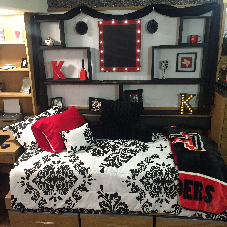 Texas Tech dorm! Stangel/Murdough! Cute decorations. … in ... on themed bathroom, shabby chic bedroom ideas, themed bedroom travel, bedroom design ideas, bedding decorating ideas, themed master bedroom ideas, themed living room, bedroom theme ideas, bathroom theme decor ideas, themed bedroom photography, vintage bedroom ideas, themed furniture, themed bedroom vintage, remodeling bedroom ideas, themed girls bedrooms, rustic bedroom ideas, decorating theme ideas, moroccan decorating ideas, cherry blossom bedroom ideas, black and white bedroom ideas,