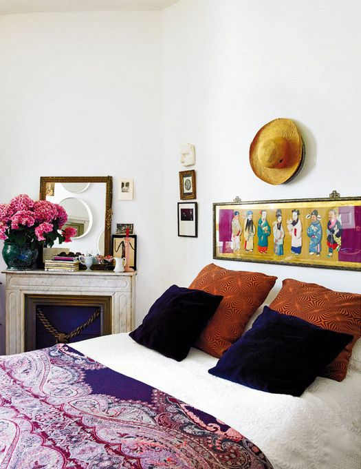 I have always been inspired by colors and textures of India. Their exuberant use of color in the beautiful silk fabrics, the spices of cumin, nutmeg, cinnamon you find in the markets,and the brightly painted painted buildings, are a great source of design ideas in my work.