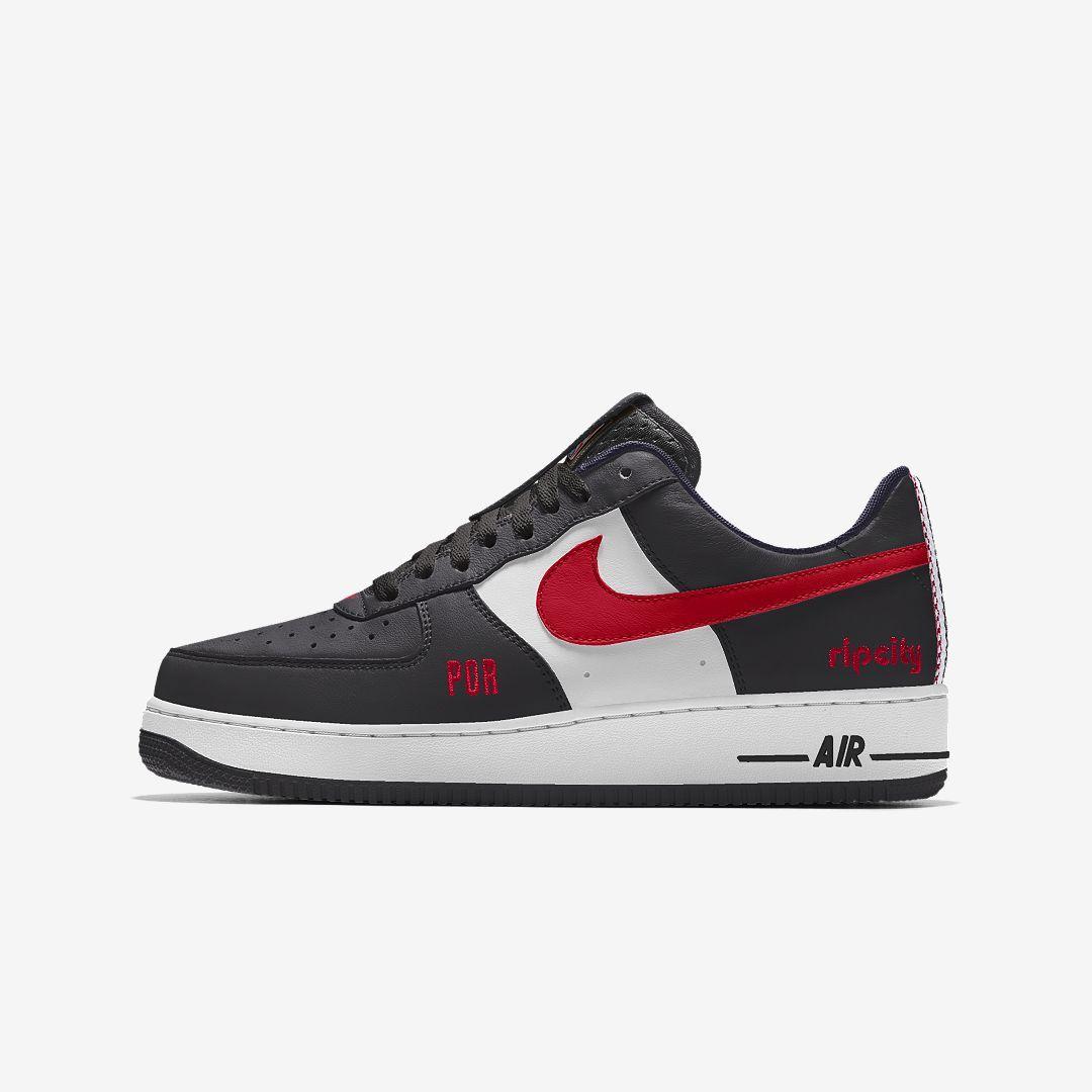 new product 99105 07c19 Nike Air Force 1 Low Premium iD (Portland Trail Blazers) Men s Shoe Size