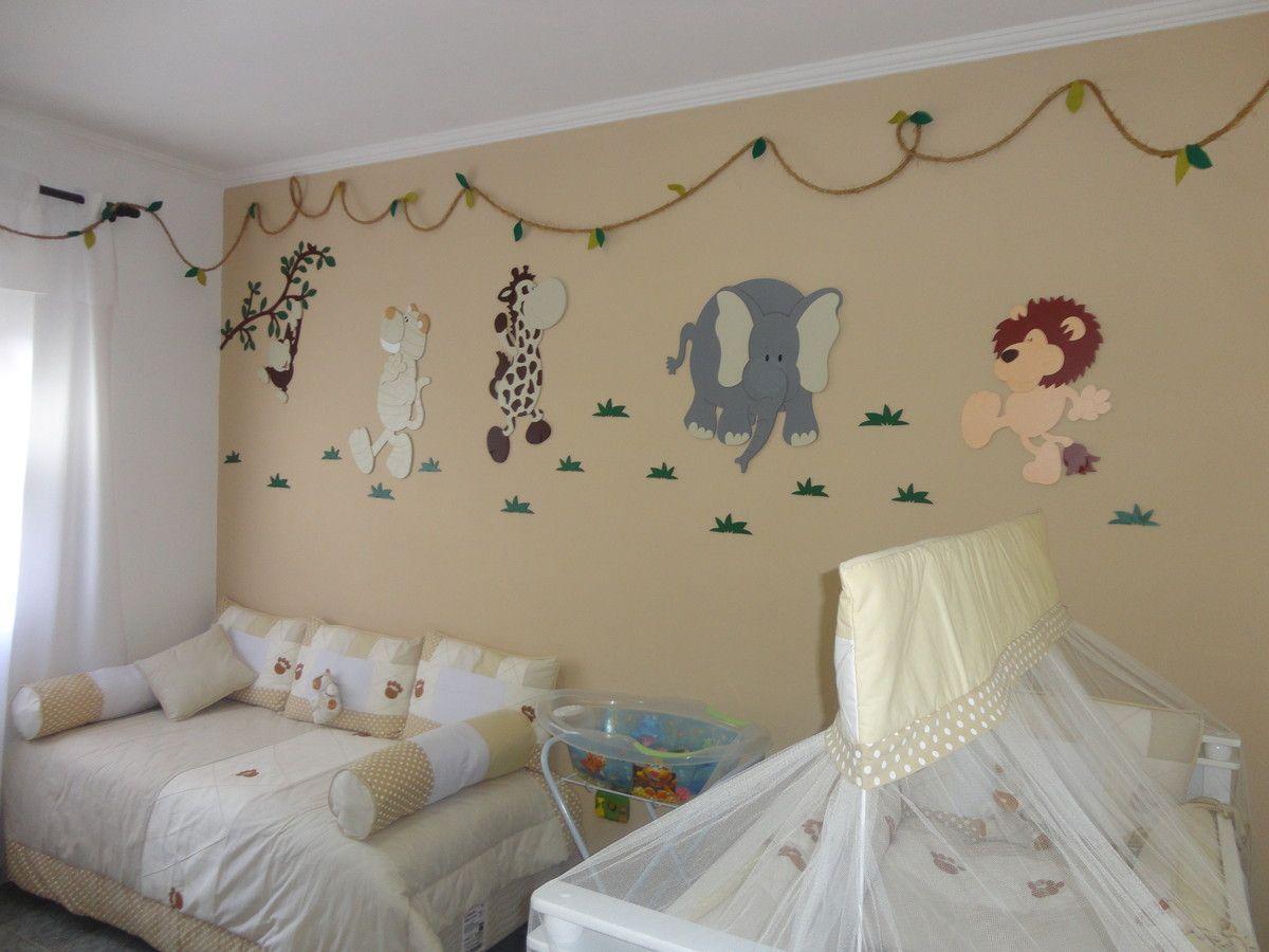 Painel Safari Lugares Para Visitar Pinterest Painel Safari  ~ Decoração De Quarto De Bebe Simples Com Papel De Parede