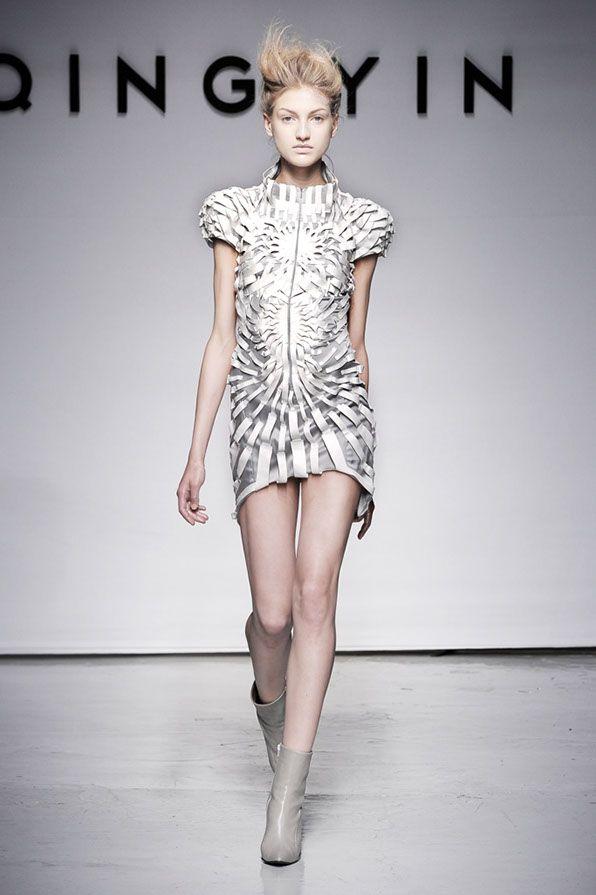 Yiqing Yin 2011, future fashion, futuristic clothing, futuristic fashion, futuristic style, model