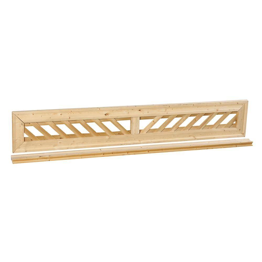 Outdoor Essentials 1 ft. x 6 ft. Decorative Lattice Wood Fence Panel ...