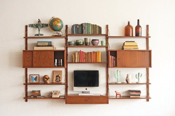 Mid Century Wall Unit Modern Bookcase House