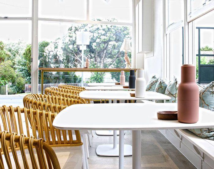 Un café moderne à la déco surprenante situé à Melbourne Melbourne