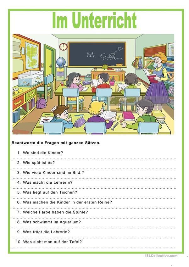 Bildbeschreibung - Im Unterricht | Bildbeschreibung, Unterricht ...