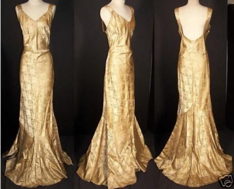 Image result for gold brocade gown