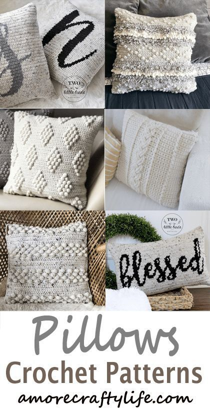 Pillow Crochet Patterns – Update Your Home – A More Crafty Life – Products