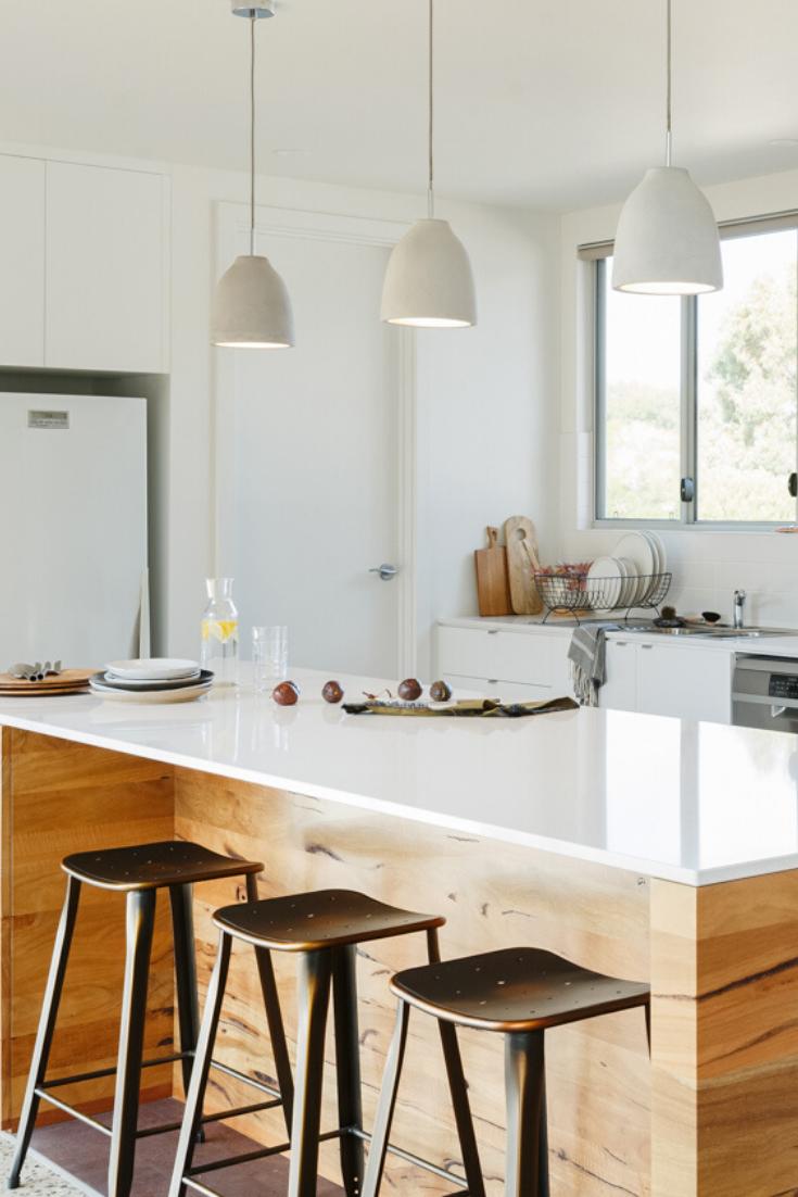 Modern Australian Marri Cosentino Kitchen Island And Table Combo Kitchen Interior Design Modern White Kitchen Stools