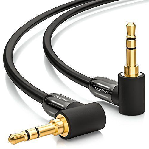 Bestes Angebot deleyCON 0,5m Klinkenkabel 3,5mm AUX Kabel Stereo ...