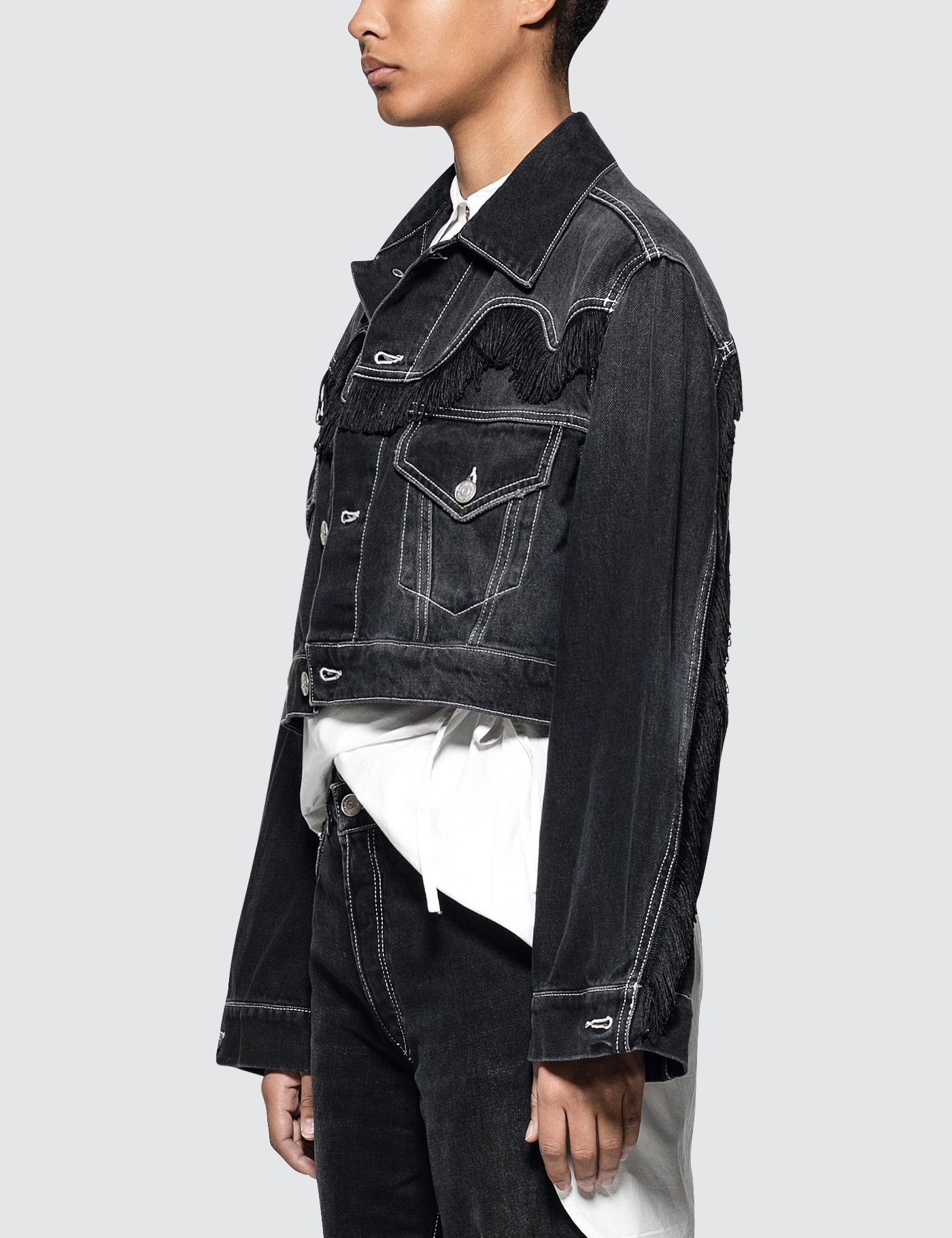 Ganni Rienzi Denim Jacket Hbx Denim Jacket Shopping Outfit Jackets [ 1820 x 1400 Pixel ]