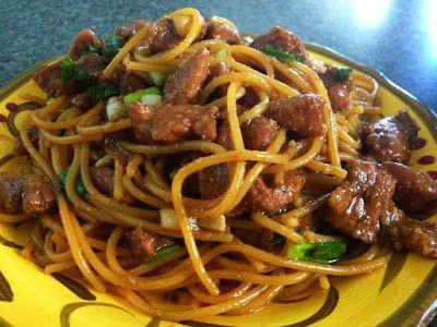 Dinner in under 30 minutes: Pork Noodle, family favorite!