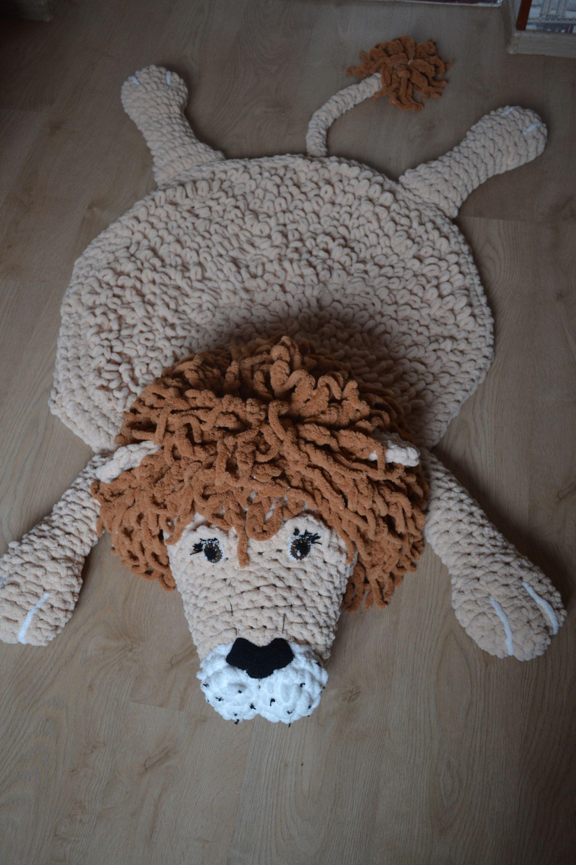 Lion Rug Safari Nursery Decor