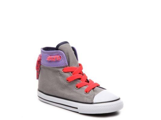 Women's Converse Chuck Taylor All Star Cinch Girls Infant & Toddler High-Top - Grey/Purple