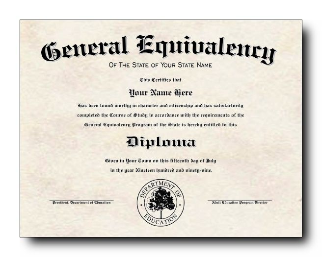 Will Obtain Ged Certificate High School Diploma High