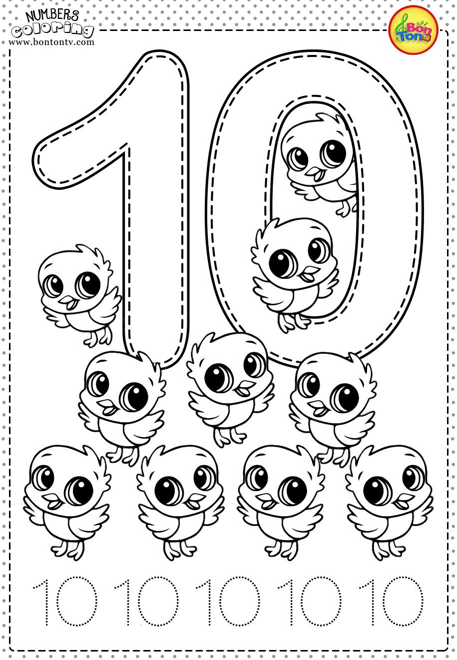 16 Preschool Number 10 Worksheets ~ ESL Worksheets Kids
