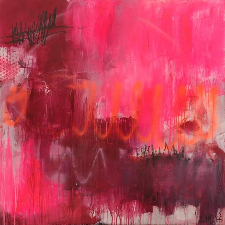 Happy Friday Painting Original Abstract Painting Painting Art