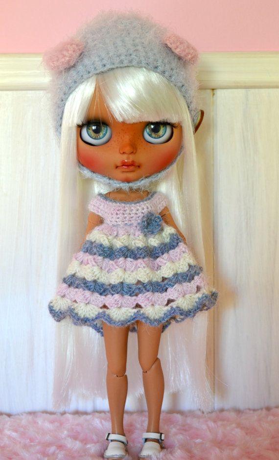 Set Blythe Dress and Hat in crochet por BeckaDolls en Etsy