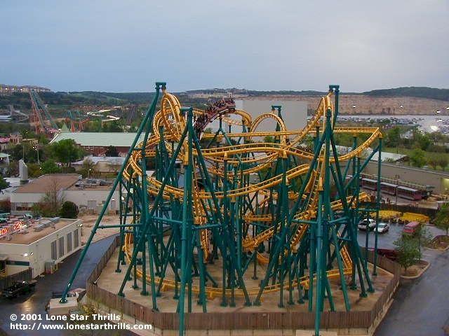 Poltergeist Six Flags Fiesta Texas San Antonio Texas Usa Roller Coaster Best Roller Coasters Six Flags Fiesta Texas