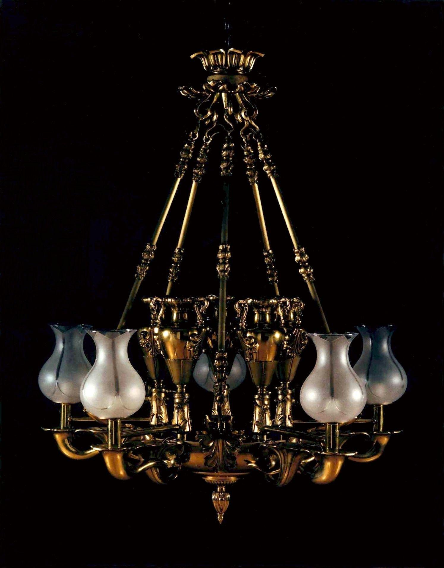 A fine regency gilt brass colza chandelier english circa 1820 a fine regency gilt brass colza chandelier english circa 1820 arubaitofo Image collections
