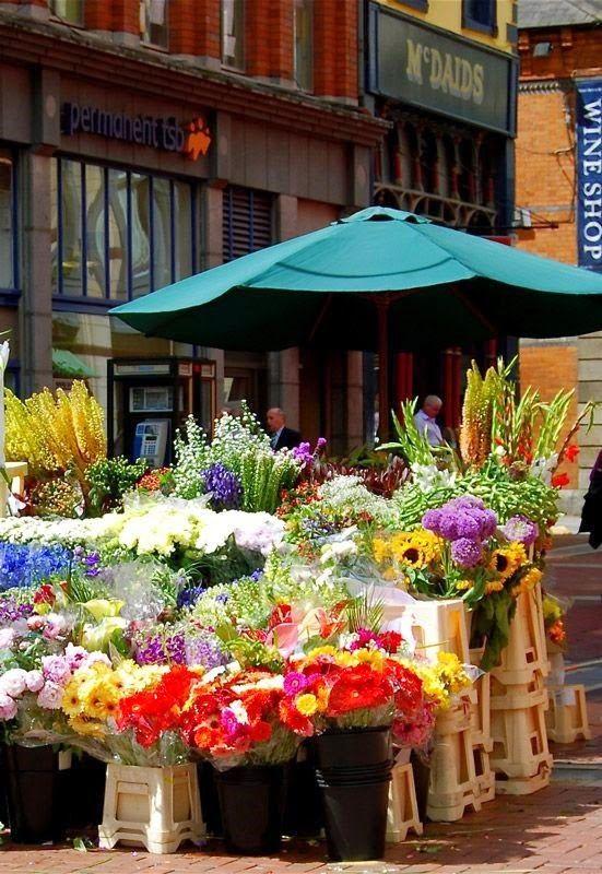 rue 27 maison Grafton street, Dublin, Flower market