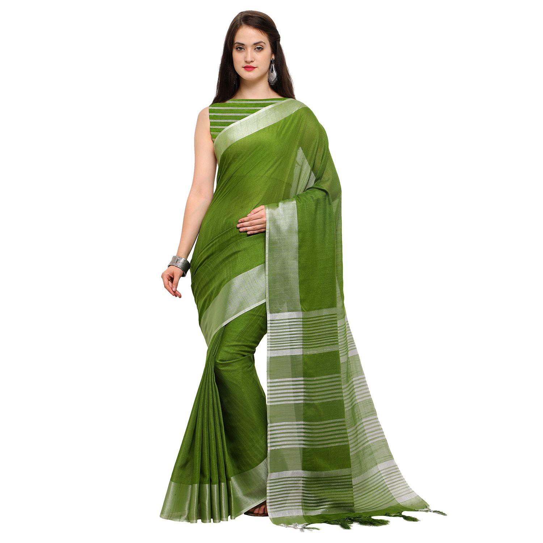 6b73ae4af70b06 #under 1200/- #Ratnavati #Geometric #Print #Handloom #Silk,#Silk #Linen # Blend #flipkart #Saree (#Green)