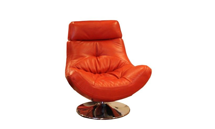 Charmant This Aurora Swivel Chair Not Only Looks Amazing But Is Super Comfy. Livorno  Papaya Leather Swivel Chair Chairs Orange