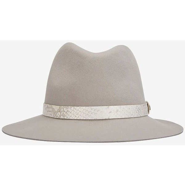 rag   bone Snake Trim Floppy Brim Fedora ( 195) ❤ liked on Polyvore  featuring accessories bb32e289838c