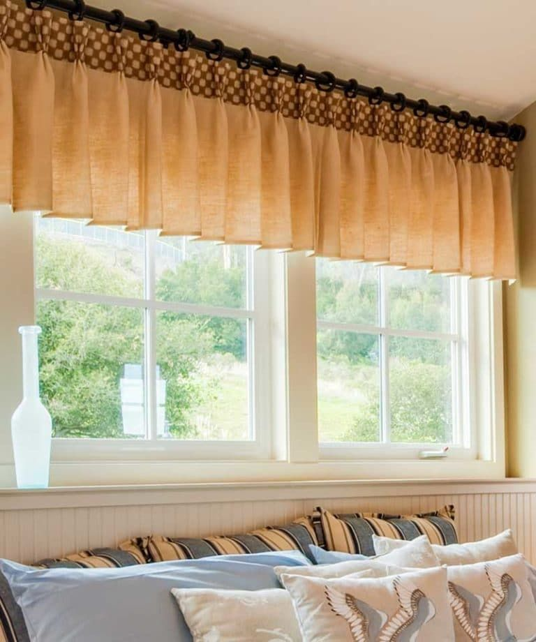 Bedroom Pinch Pleat Drapery Valances For Wide Windows Tips From A Workroom Wide Windows Valance Custom Curtains