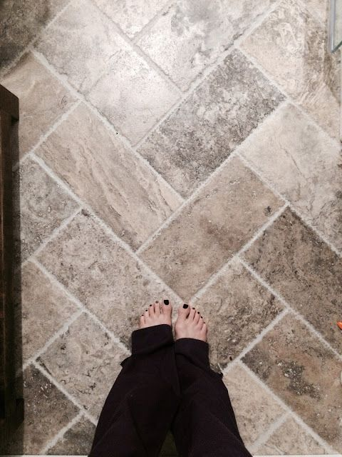 pewter tumbled travertine modern farmhouse would love to be able to do this in corpus on farmhouse kitchen tile floor id=87816