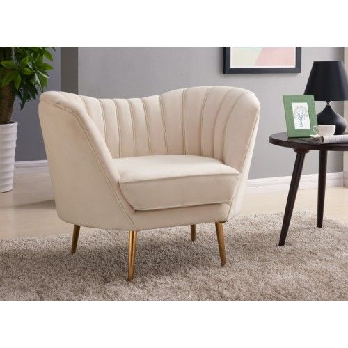 Reese Accent Chair With Gold Legs Navy Blue Picket House