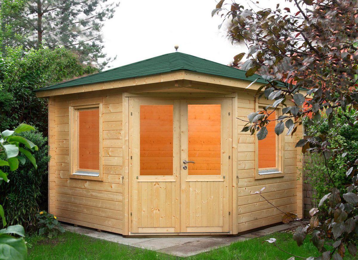FINNHAUS Set Gartenhaus »Maria 44B«, BxT 412x412 cm