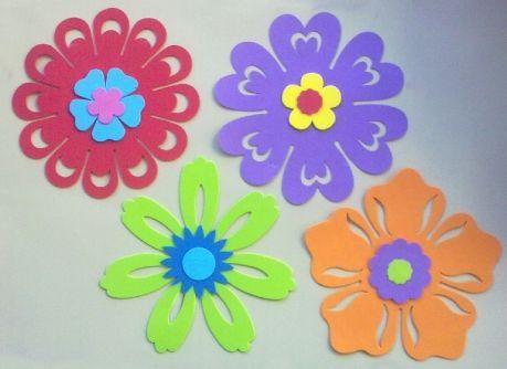 Flores de goma eva buscar con google plantillas o for Figuras para decorar paredes