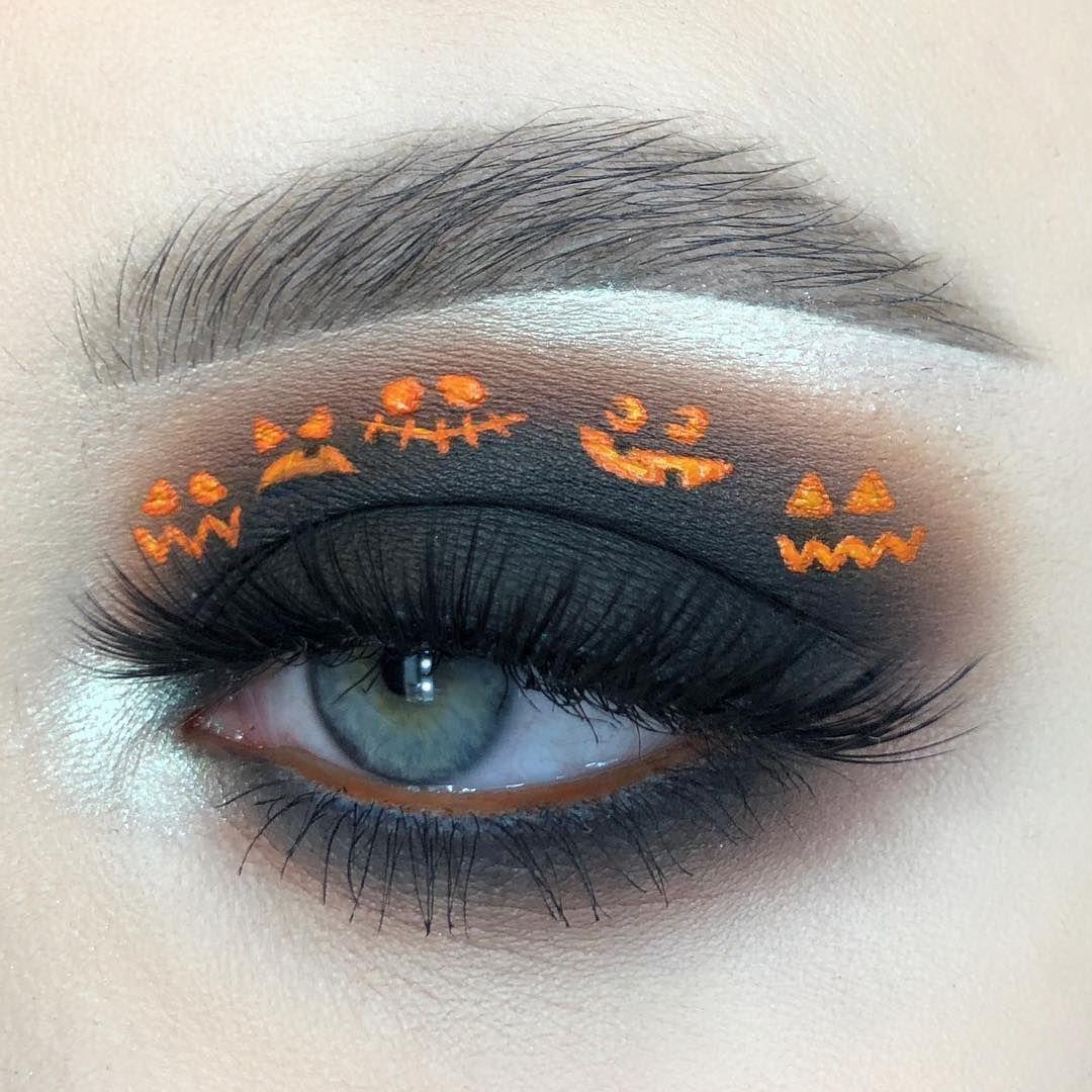pumpkins in the night Halloween eye makeup, Artistry