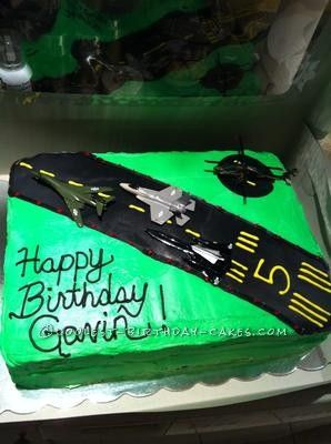 Coolest Jetplane Runway Birthday Cake This Website Is The Pinterest Of Homemade Cakes