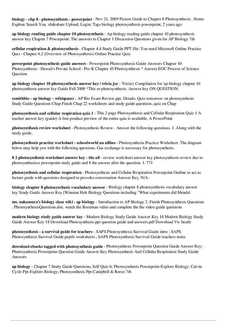 ap biology essay photosynthesis vision specialist baseball rh pinterest com modern biology study guide answer key 15-1 modern biology study guide answer 20