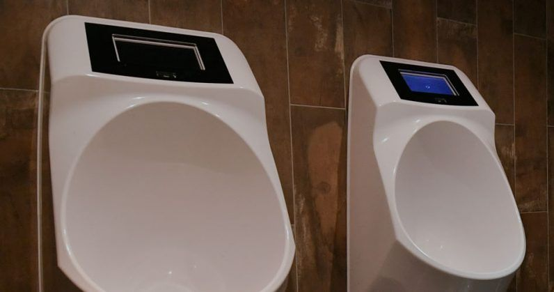 toilet startup built a smart urinal that serves ads while you pee