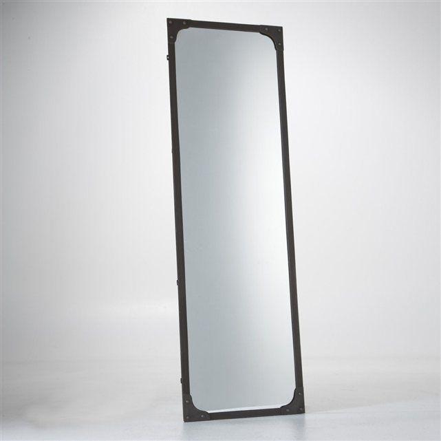 Miroir m tal taille xl style industriel lenaig bedrooms for Miroir metal industriel