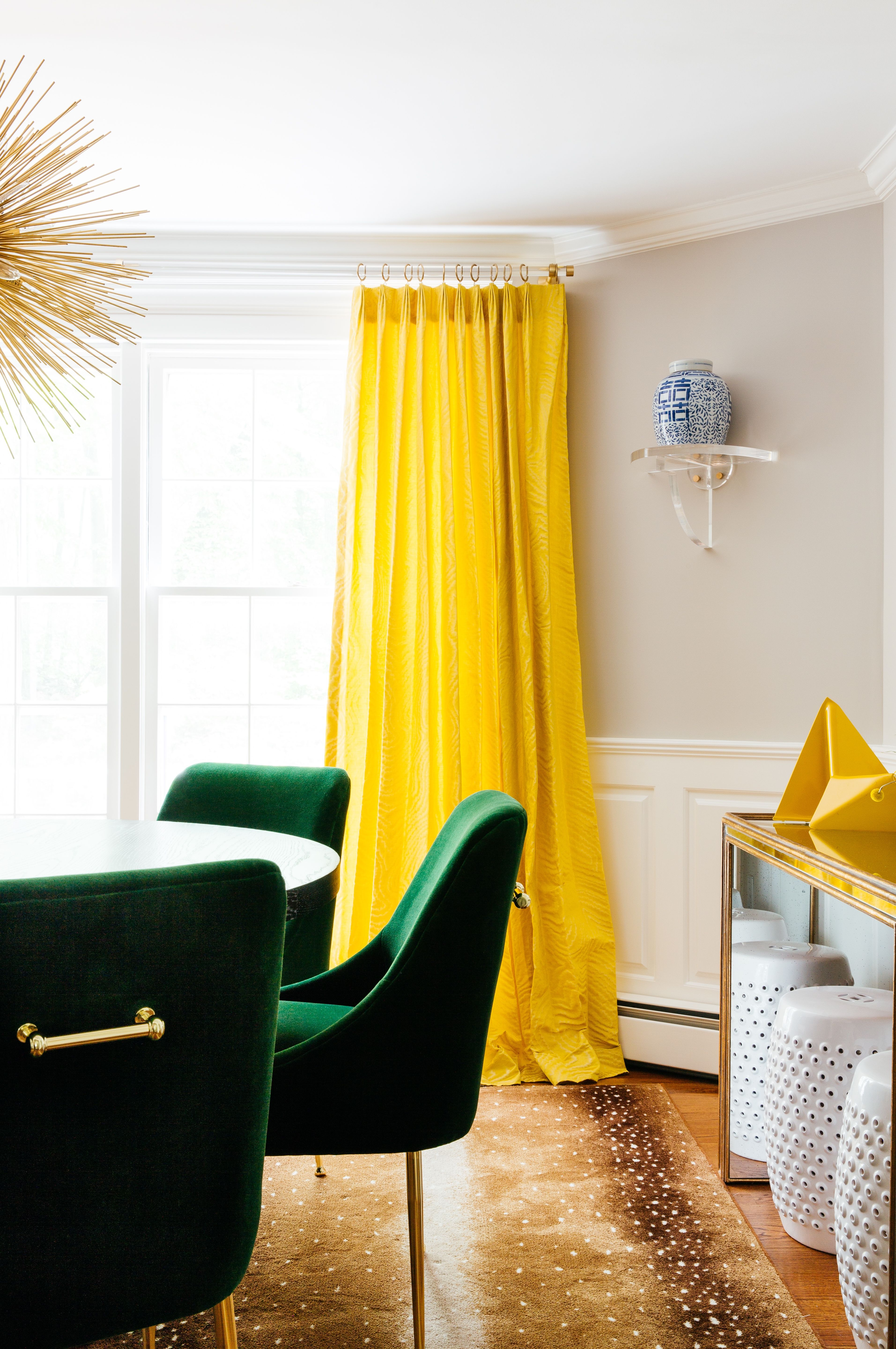Dining Room Green Dining Chairs Yellow Curtains Yellow Accent Piece Blue White Yellow Curtains Living Room Yellow Living Room Yellow Dining Room