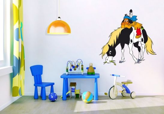 Etagenbett Yakari : Wandtattoo yakari mit kleiner donner kinderzimmer house