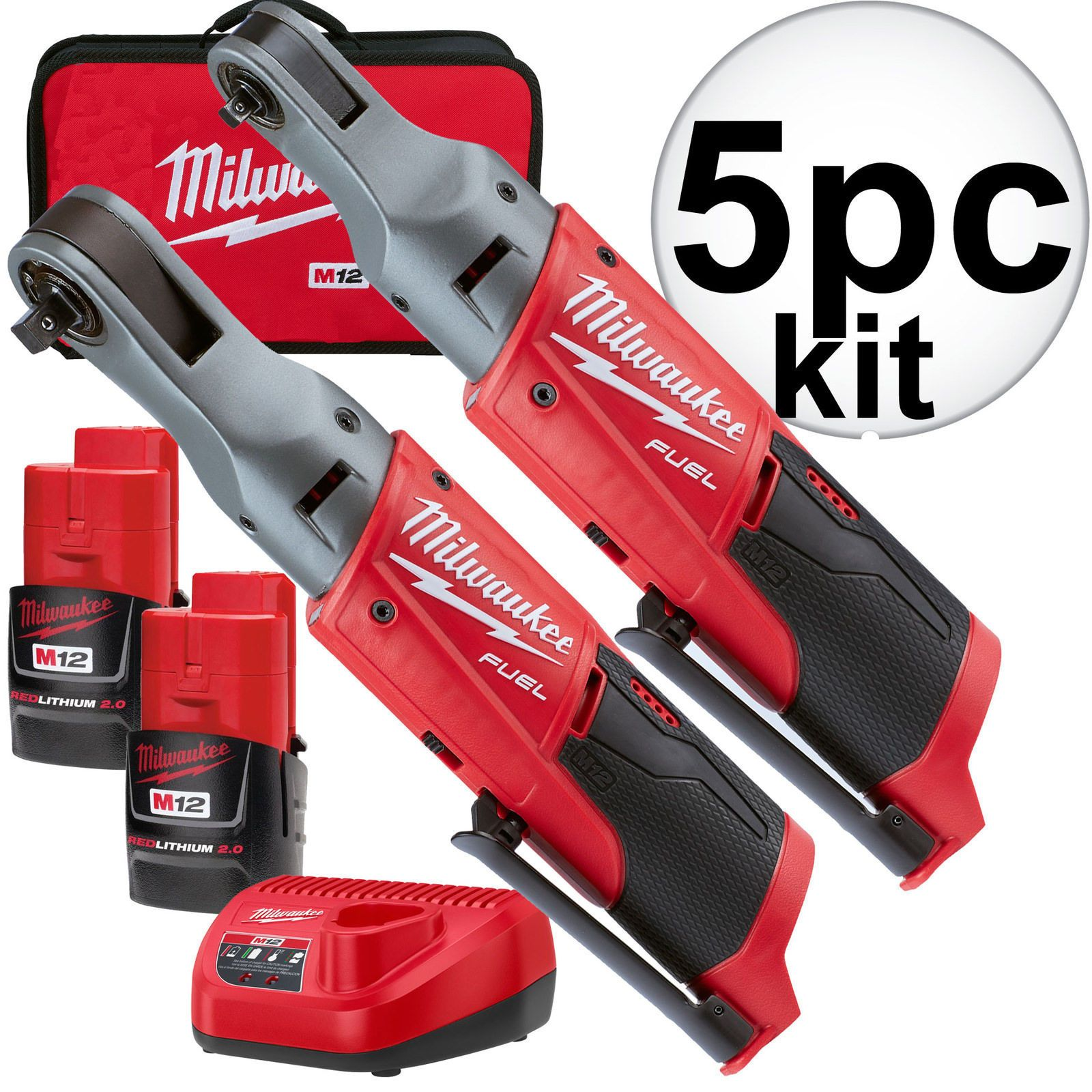Milwaukee 2556 22 M12 Fuel 12v Cordless 1 4 3 8 Ratchet 2 Battery Kit New Milwaukee Fuel Gutter Cleaning Tool Impact Wrenches