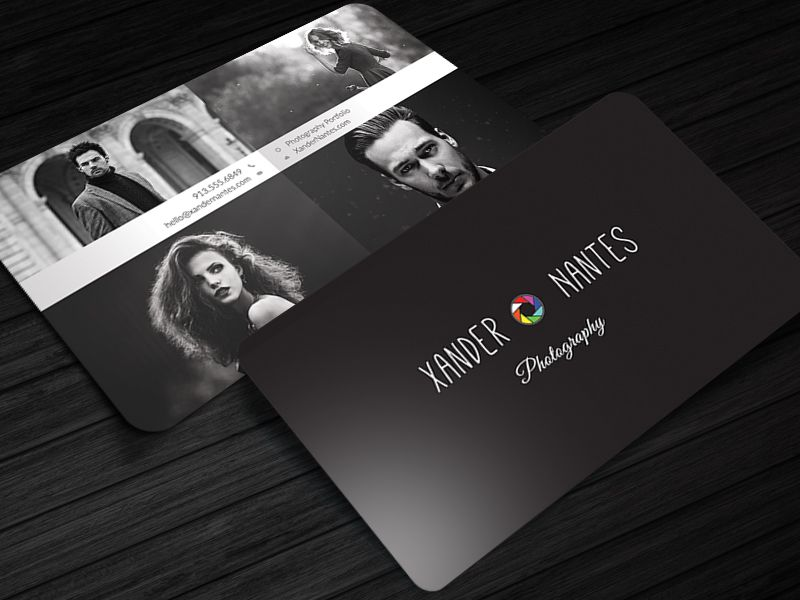 Photographer Business Card - QuadPix - Photoshop PSD Template ...