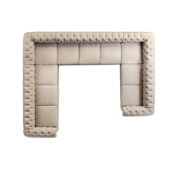 (Refurbished) Moser Bay Furniture Roll Arm 10 Seat U Sectional Sofa Set.  Sofa SetSectional SofasLiving Room ...
