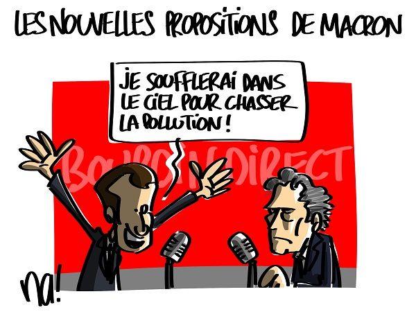 """Résultat de recherche d'images pour """"Macron  pollution"""""""