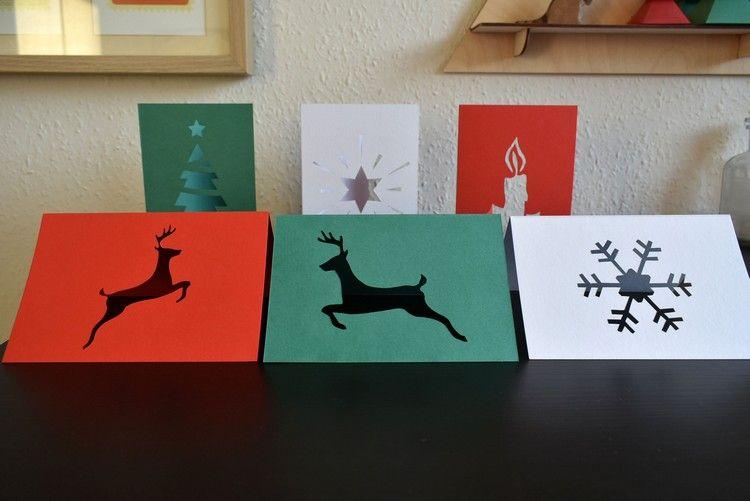 Weihnachtskarten Basteln Mit Scherenschnitt Ideen Anleitungen Und
