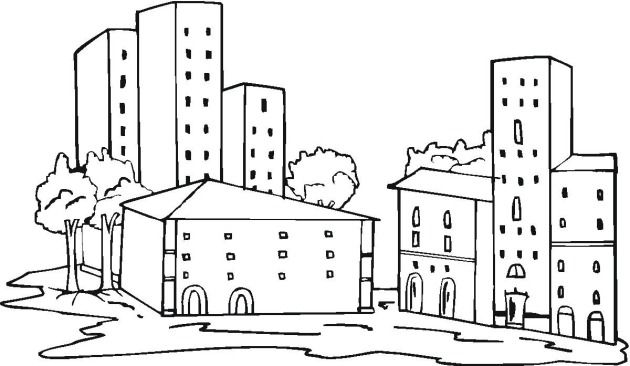 Free Buildings Coloring Pages Colorpages Coloring Coloringpages