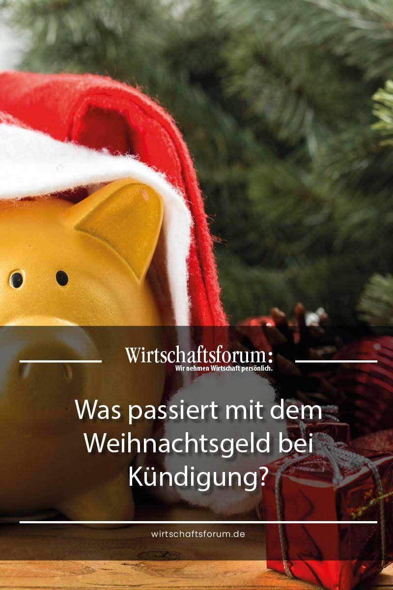 Kündigung Weihnachtsgeld