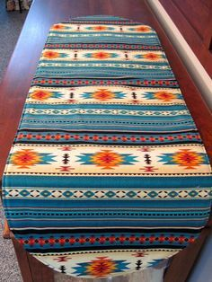 Awesome Southwestern Table Runner 36 Inch Reversible Orange Red And Turquoise Southwest  Table Runner Aztec Table Runner Sedona Table Runner