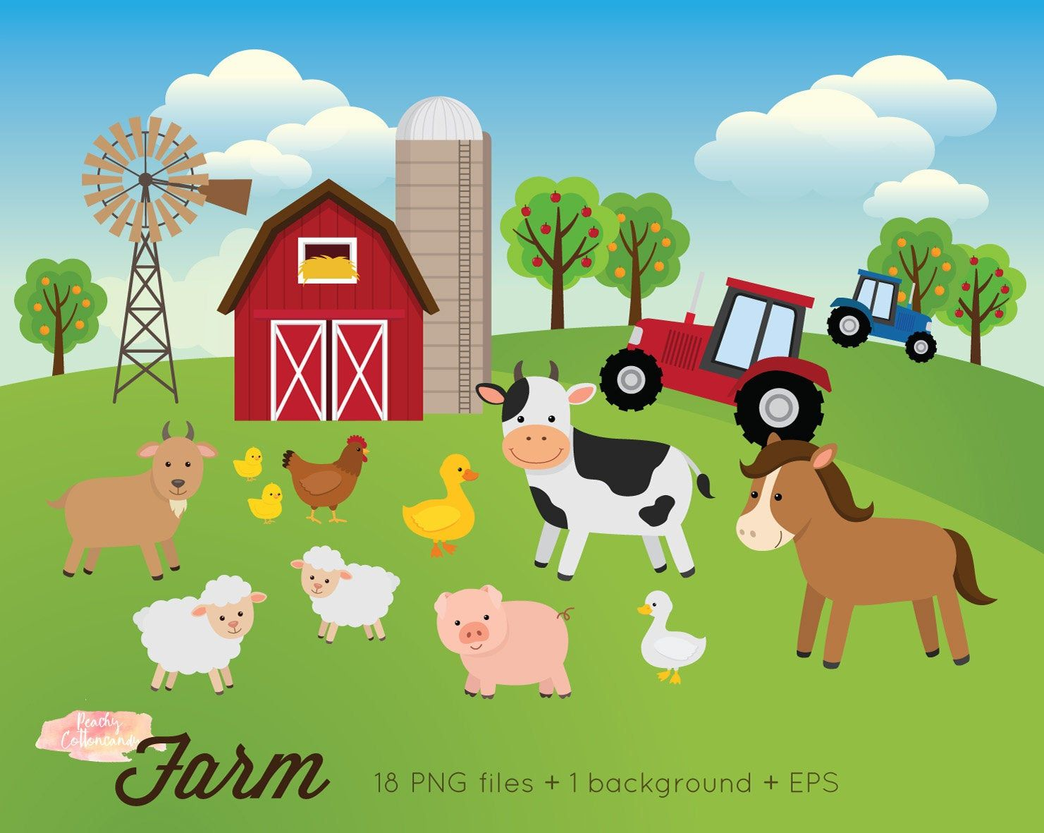 Buy 3 Get 30 Off Farm Animals Clipart Farm Clipart Farm Animals Clip Art Farm Clip Art Barnyard Clipart Animal Clipart In 2021 Animal Clipart Farm Animals Animal Matching Game